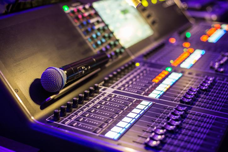 Musik studio med utrustning